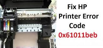 fix hp printer error code 0x61011beb