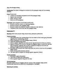 5 Paragraph Essay Lesson Plan By Amendez Teachers Pay Teachers
