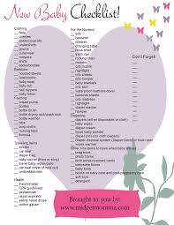 Printable Baby List Essentials Download Them And Try To Solve