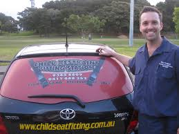 child seat fitting company car
