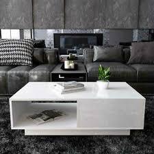 modern high gloss coffee table storage