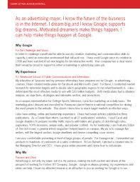 Cover Letter Google Cover Letter Samples Google Internship Cover