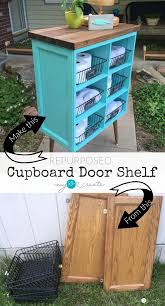 Projects Repurposed Cupboard Door Shelf Beautify Your Home With This Diy Repurposed Cupboard Door Shelf Listotic 30 Creative And Easy Diy Furniture Hacks For Creative Juice