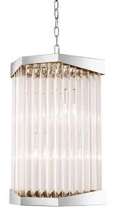 Casa Padrino Luxus Acryl Wohnzimmer Kronleuchter Silber 33 X