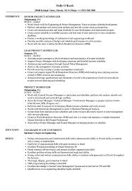 project scheduler resumes project scheduler resume samples velvet jobs