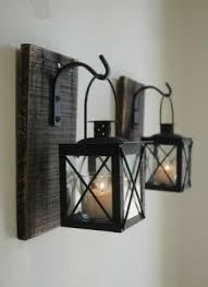 Wrought iron hanging candle holders