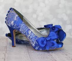 Wedding Shoes Royal Blue Platform Peep Toe Custom Wedding Royal Blue Wedding Flats