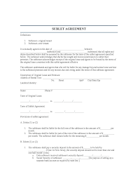Basic Sublet Agreement New Jersey Sublease Agreement LegalFormsorg 10