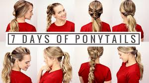 Quick Cute Ponytail Hairstyles 7 Days Of Ponytails Youtube