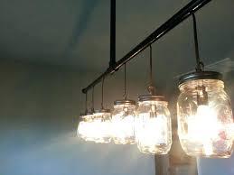 likeable mason jar track lighting track lighting chandelier custom made mason jar replace with large size average mason jar track lighting