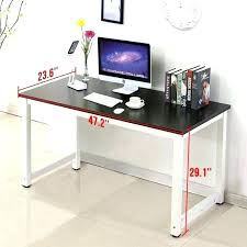 desks glass desk computer white top a medium size of with black compact table argos