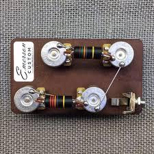 emerson custom les paul prewired kit short shaft pots