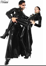 new listing men women black shiny pvc latex matrix neo long coat faux leather long trench coat costume s xl by vanilla03 dhgate com