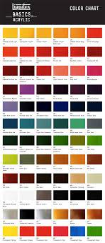 Sakura Poster Color Chart Liquitex Basics Acrylic Paint 118ml 4 Oz Tube Color Chart