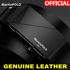 <b>MartinPOLO Men</b> Genuine Leather <b>Automatic</b> Toothless Alloy ...