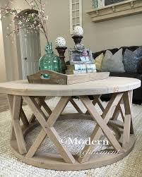 upcycled wire spool table with antique tray display