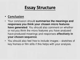 writing your micro essay essay structure bull conclusion