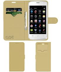 Celkon A105 Flip Cover by ACM - Golden ...