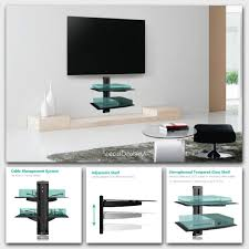 tv wall mount with floating shelf