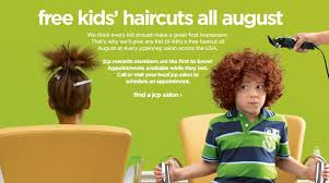 free kids haircuts all august