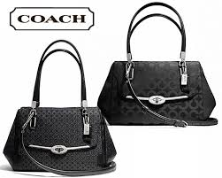 199 for a Coach Madison OP Art Sateen Small Madeline East West Satchel Bag  OR  219 for a Coach Madison Op Art Pearlescent Small Madeline East West  Satchel ...