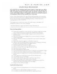 Resume Retail Merchandising Manager Sample Fashion Visual Examples