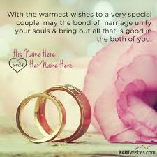 Wedding Wishes With Quote And Name Editing Enchanting Marriage Wishes Quotes