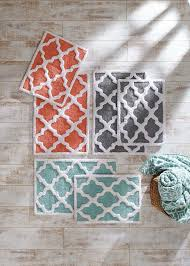 attractive trellis bath rug with magnificent trellis bath rug cotton bath rug i garnet hill
