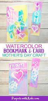 Kid in a childrens club. Mother S Day Bookmark Card Watercolor Project For Kids Projects With Kids