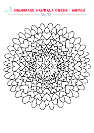 Mandala Coeur Colorier Facile Momes Net Coloriage Mandala Coeur Imprimer L