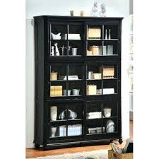 bookcases bookcase with sliding glass doors wood door black oak
