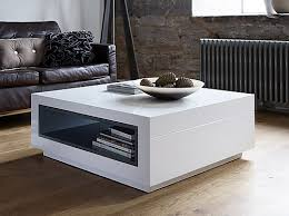 savoye coffee table with open ended storage round white tables