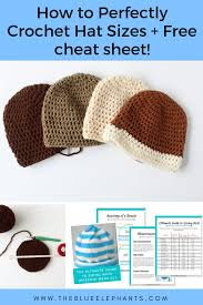 How To Crochet Hat Sizes In 3 Easy Steps Hat Sizing Freebie