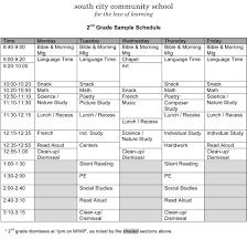 Sample Schedules Sample Schedule Sample Schedules South City Community School A Charlotte Mason 9