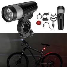 Usb Bicycle Light Set Wheel Up 600lm Bicycle Light Set Cycling Bike Light Tail Light Set Usb Rechargeable Ipx4 Waterproof