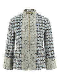 Dolce Gabbana Tweed Lace Trimmed Jacket