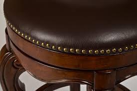 burrell swivel bar stool brown cherry leather finish 5170 830