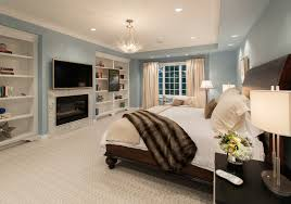 elegant dream black crystal chandelier design inspiration in awesome master bedroom modern features sky blue wall painting and built