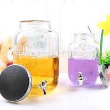 glass beverage dispenser with metal spigot whole suppliers made in usa