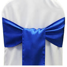 25pcs new royal blue satin chair sashes bows 15cmx275cm wedding hot