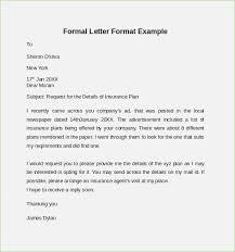 Formal Format Sample Formal Letter Format Under Fontanacountryinn Com