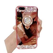 mirror iphone 7 plus case. cover iphone 7 plus, plus cases, bonice diamond glitter luxury crystal rhinestone mirror iphone case
