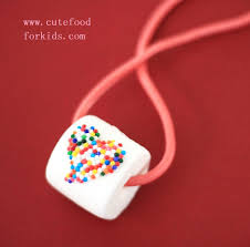 DIY candy necklace - the whole thing is edible, including the