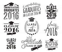 卒業ご希望のオーバーレイ文字ラベルデザインセットモノクロ卒業生クラス