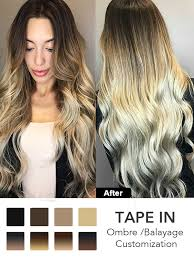 ombre balayage tape in hair extensions tpo001