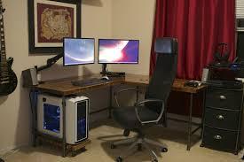 decor of custom computer desk ideas with low profile computer desk desk