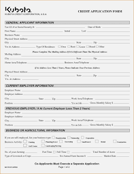 Generic Credit Application 205512500746 Business Credit