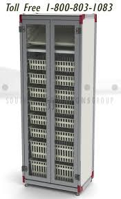 Hospital Medicine Cabinet Hospital Supply Chain 2 Bin Kanban Shelves Carts Plastic Bins