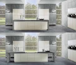 minimalist kitchen with sliding countertop cocina