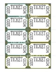 Create Tickets In Word Raffle Ticket Template